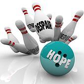 Hope Vs Despair Bowling Bowl Faith Conquers Doubt