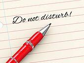 3d pen on paper - do not disturb