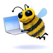 3d Bee laptop