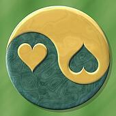 Jing jang hearts