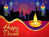 diwali background with golden deepak