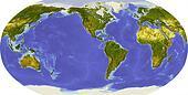 Globe, centered on America