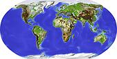 Globe, centered on Africa