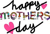 Happy Mothers Day Kids Title Text
