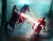 Fantasy horseman sorcery