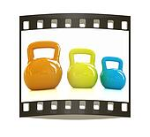 Colorful weights. The film strip