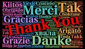 Thank You illustration word cloud