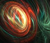 Oval Colorful Abstract