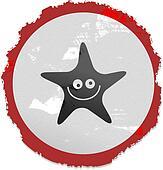 grunge starfish sign