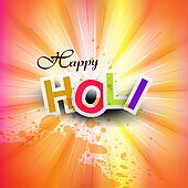 vector illustration happy holi for colorful indian festival celebration background