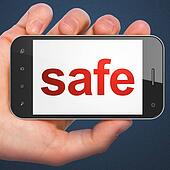 Security concept: Safe on smartphone
