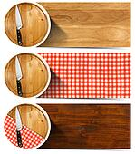 Set of Kitchen Banners with Cutting Board