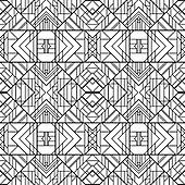 Seamless Geometric Pattern. Art Deco styled