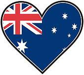 Australia Heart Flag