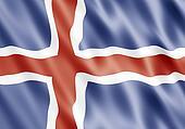 Republic of Iceland Flag