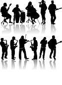 11 Musician Silhouettes