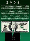 hundred dollar bill Calendar