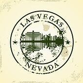 stamp with Las Vegas, Nevada
