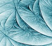 Flowing Blue Green Abstract