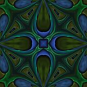 Blue Green Points Abstract