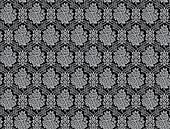 Seamless damask pattern with rose bouquets