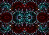 Stained Glass Kaleidoscope Abstract