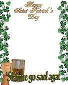 St Pattys Day Irish Toast Border