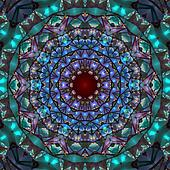 Stained Kaleidoscope Abstract