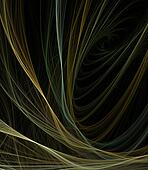 Tangle Ribbons Abstract