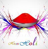 Gulal for holi background grunge of colorful wave illustration vector