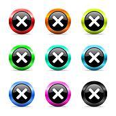 cancel web icons set