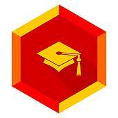education flat design modern icon