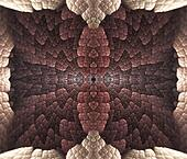 Brown Quilted Abstract
