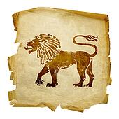 Lion zodiac icon