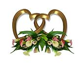 Gold Hearts And Calla Lilies