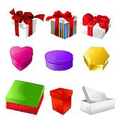 vector christmas boxes