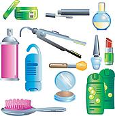 Makeup Products Clip Art - Royalty Free - GoGraph