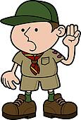 Illustration of boy scout