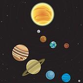 Illustration of solar system