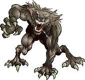 Snarling Scary Werewolf