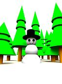 Christmas Tree Forest Snowman