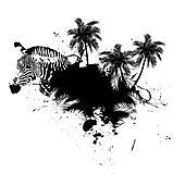 Palm Trees Grunge