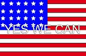 Yes We Can With USA Flag