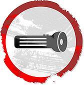 grunge torch sign