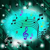 Green Music Background Means Jazz Soul Or CDs