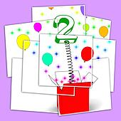 Number Two Surprise Box Displays Creative Toy Or Adornment