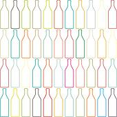 Background with bottles ,seamless patter