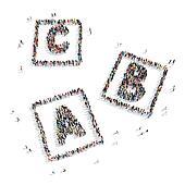 group  people  shape  letters cartoon