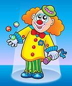 Cute happy clown
