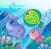 Cute marine animals